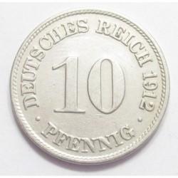 10 pfennig 1912 D