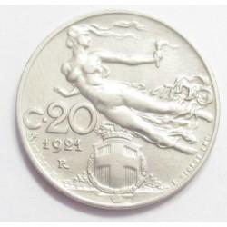 20 centesimi 1921