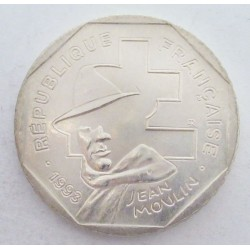 2 francs 1993 - 50th Anniversary of the National Resistance Movement