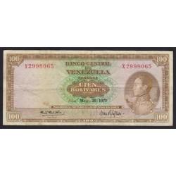 100 bolivares 1970