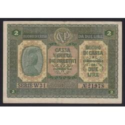 2 lire 1918